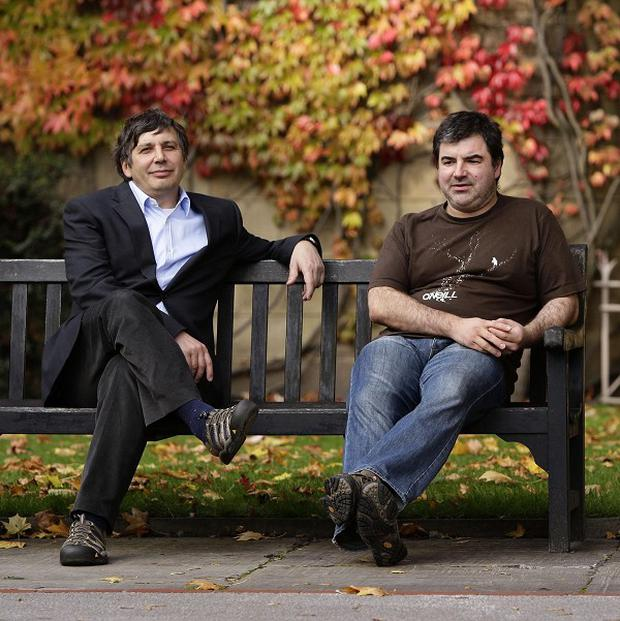 University of Manchester professors Andre Geim and Konstantin Novoselov have hit out at the Government's immigration cap (AP)
