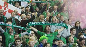 Green and White Army: Northern Ireland fans in full voice
