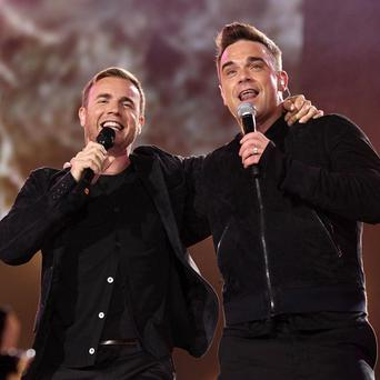 Robbie Williams and Gary Barlow are set to miss out on the No 1 spot