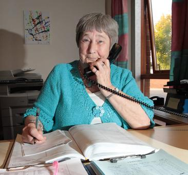 Helping hand: Esther Fyffe knew that she wanted to volunteer even before she retired