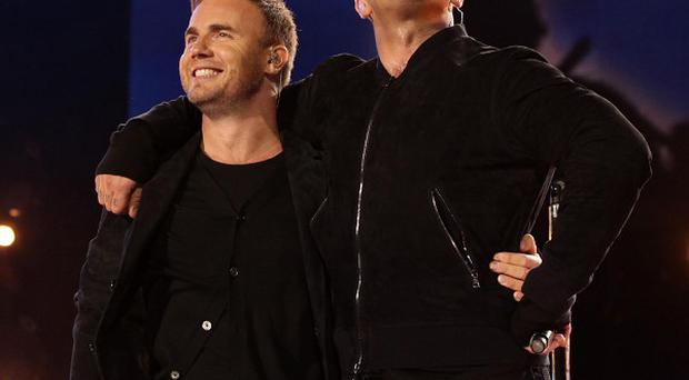 Robbie Williams and Gary Barlow performed a Take That song together