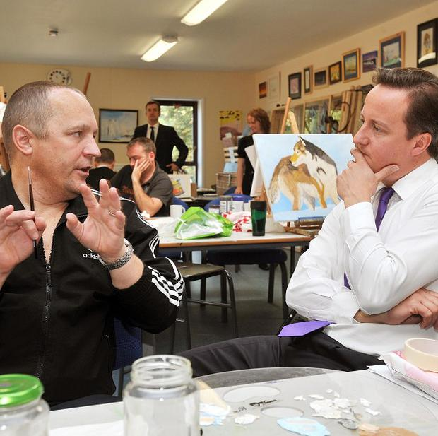 Prime Minister David Cameron spoke to Russ Roberts, who served in the Army in Northern Ireland