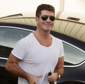 Simon Cowell arrives for X Factor rehearsals at Fountain Studios in Wembley, north London