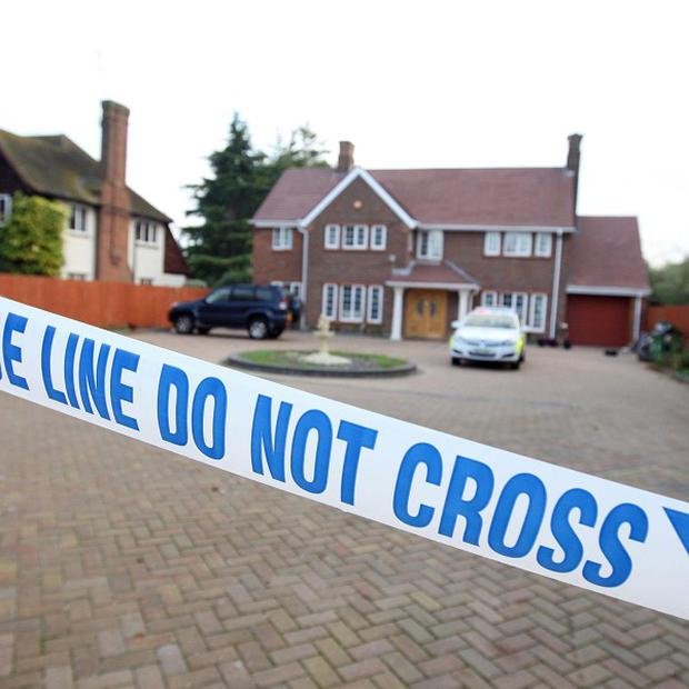 Thames Valley Police at the house in, Aylesbury, Buckinghamshire, where Assia Shahzad was discovered