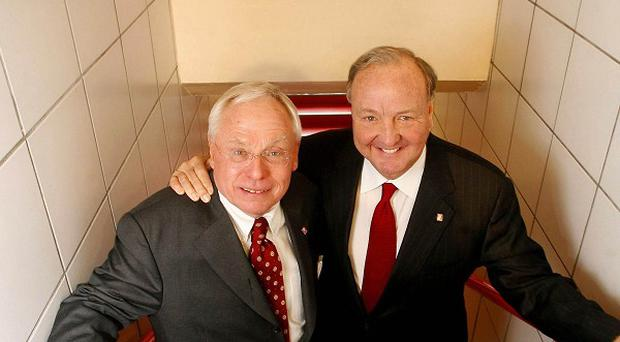 Liverpool owners George Gillett (left) and Tom Hicks. RBS has an injunction against the pair sacking key board members