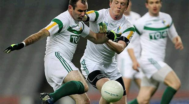 Armagh's Steven McDonnell, in training last night, will skipper Ireland against the visiting Aussies in the International Rules series