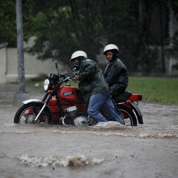 Tropical Storm Paula has brought winds and heavy rain to the Cuban capital Havana (AP)