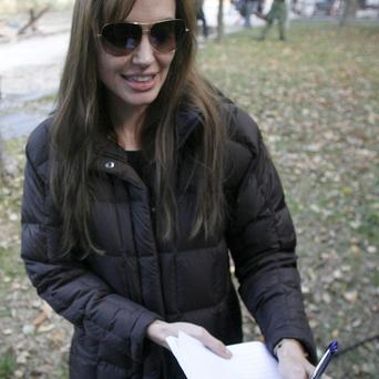 Angelina Jolie is currently filming in Hungary