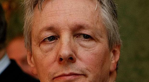 DUP leader Peter Robinson after a deal was announced on power-sharing