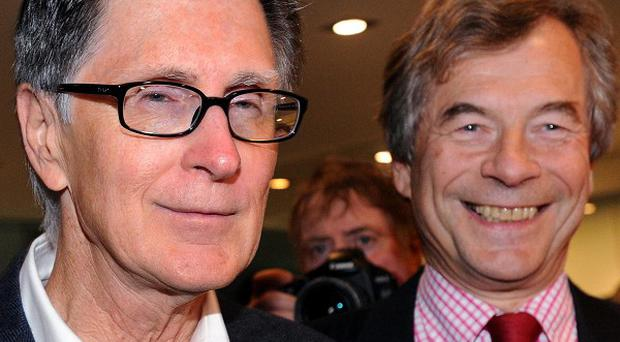 Liverpool FC new owner John W Henry (left), of NESV with Liverpool chairman Martin Broughton