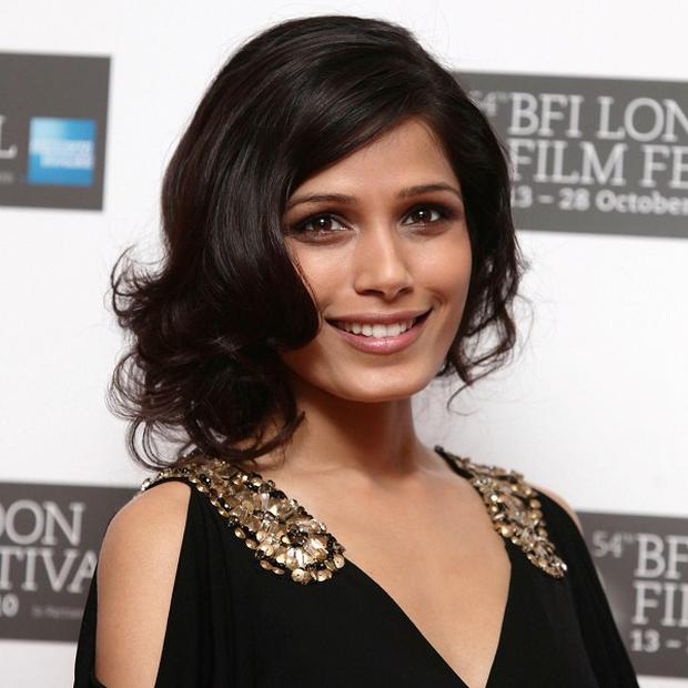 Freida Pinto attends the screening of Miral, shown as part of the 54th BFI London Film Festival
