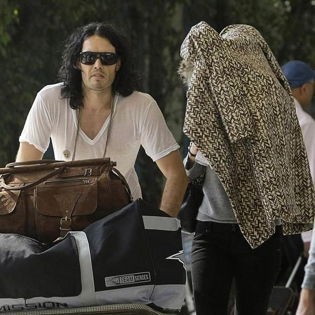 Russell Brand and Katy Perry have arrived at Mumbai airport