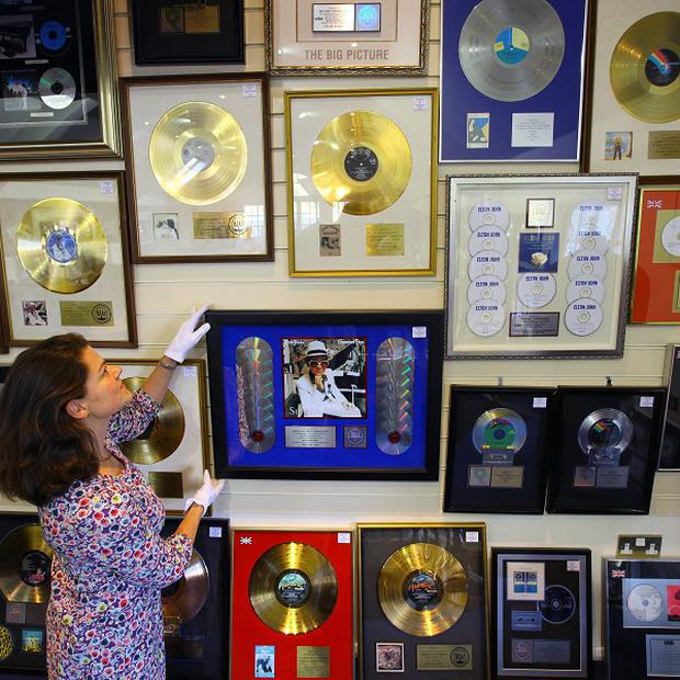 Elton John memorabilia went up for sale in Lewes