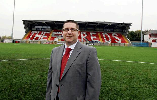 Gerard Lawlor at the centre of where the action takes place on Cliftonville's new Solitude G3 pitch