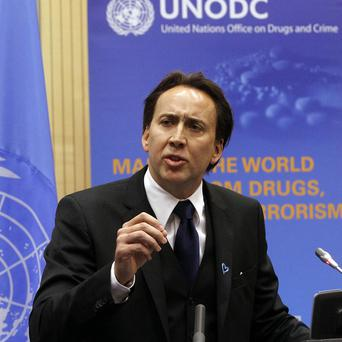 Nicolas Cage has spoken out against organised crime