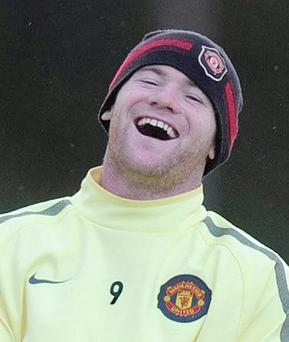 Manchester United's Wayne Rooney during a training session at Carrington Training Ground, Manchester.