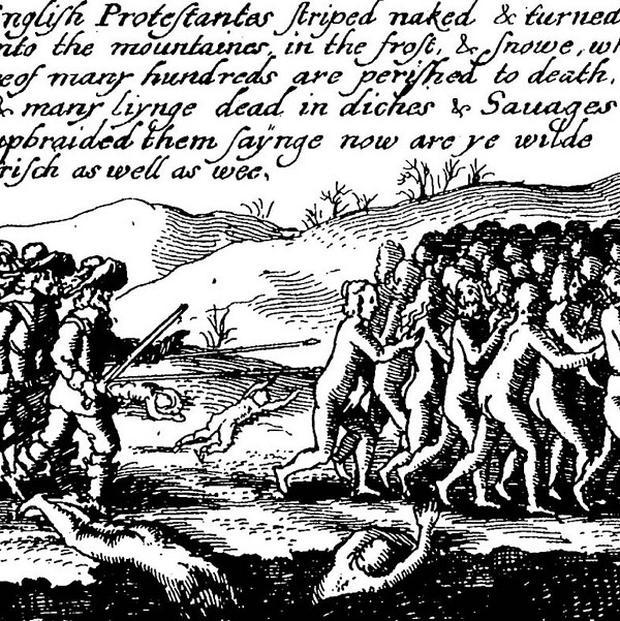 'Propaganda' images from the 1641 rising by Catholic rebels of an alleged massacre of Protestants are on show at the exhibition