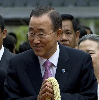 UN Secretary-General Ban Ki-moon called for the release of political prisoners in Burma (AP)