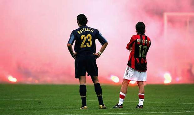 <b>Derby Della Madonnina: AC Milan v Inter Milan</b><br/> AC Milan was founded in 1899 by English immigrants but when some members disagreed that only British players could be a member of the side they founded a new club with the obvious name, Internazionale. Inter have ever since been considered a club for the bourgeoisie middle-class (hence the nickname 'bauscia' which means 'nouveau riche') while AC had more working class members (nicknamed 'casciavit' meaning screwdrivers). The Milanese clubs have fought neck and neck for supremacy in Italian football ever since and the rivalry is as heated today as it was over 100 years ago.