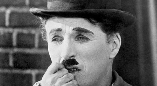 A video from a bonus feature of the DVD to Charlie Chaplin's 1928 film The Circus shows a woman talking into something that appears to be a mobile phone