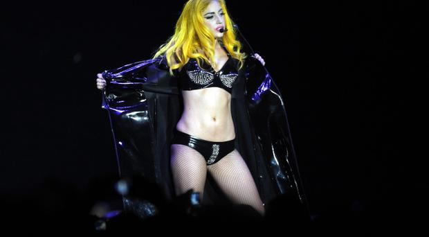 Lady Gaga performs at the Odyssey in Belfast