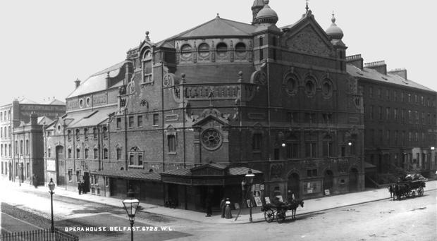 the outside of the building when it opened in 1895