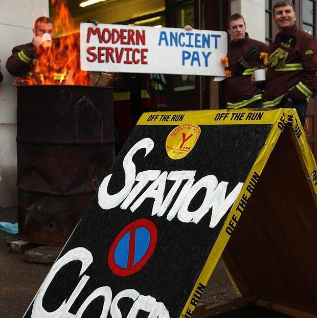 Firefighters will strike on Monday in protest against plans for a new shift system, the Fire Brigades Union has said