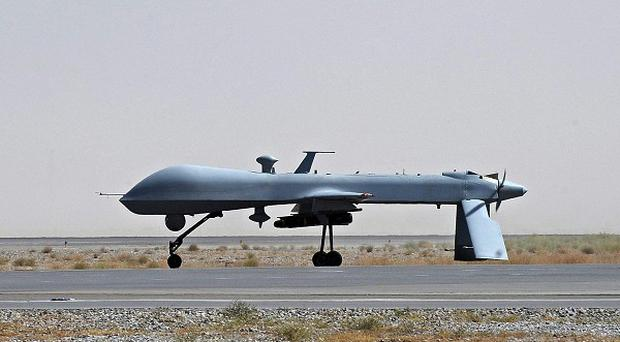 A US drone attack killed five people in north-west Pakistan, local intelligence officials said