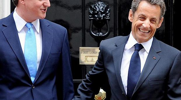 A joint working programmehas been agreed by Prime Minister David Cameron and French President Nicholas Sarkozy