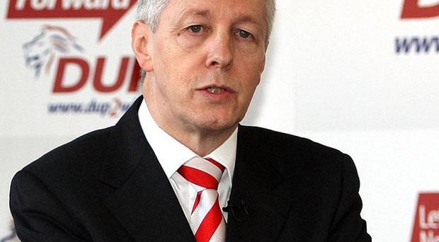 Proposals outlined by the DUP to help offset the 4 billion pound cuts have been announced by Peter Robinson