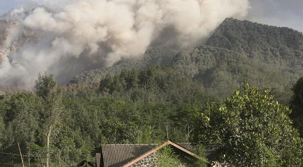 Mount Merapi's latest eruptions have forced the evacuation of almost 70,000 villagers from the surrounding area