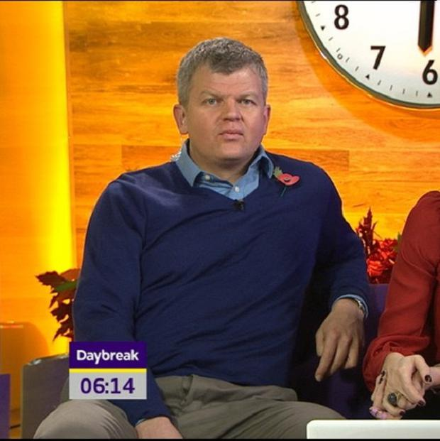 Adrian Chiles was spotted with his flies undone