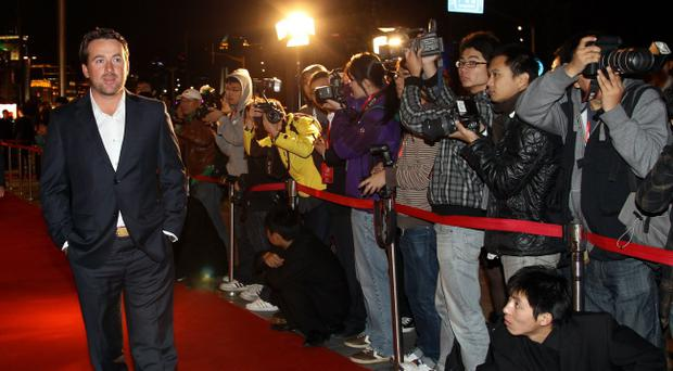 Graeme McDowell arriving last night at the WGC-HSBC Champions welcome reception at The Waldorf Astoria, Shanghai
