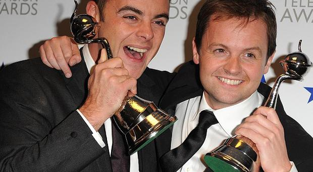 Anthony McPartlin (left) and Declan Donnelly (right) - presenters of I'm A Celebrity