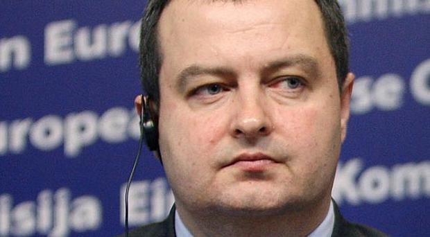 Serbia's Interior Minister Ivica Dacic said two people died when their home collapsed during the earthquake