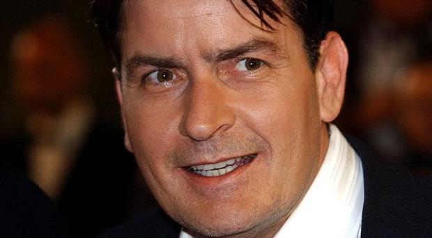 Charlie Sheen is back at work on his US TV show