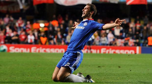 Chelsea's Branislav Ivanovic celebrates scoring his sides third goal of the game during the UEFA Champions League, Group F match at Stamford Bridge, London. PRESS ASSOCIATION Photo. Picture date: Wednesday November 3, 2010. See PA story SOCCER Chelsea. Photo credit should read: Anthony Devlin/PA Wire.