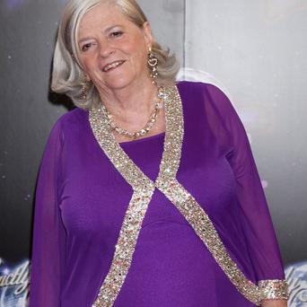 Anne Widdecombe was photographed fast asleep on a train