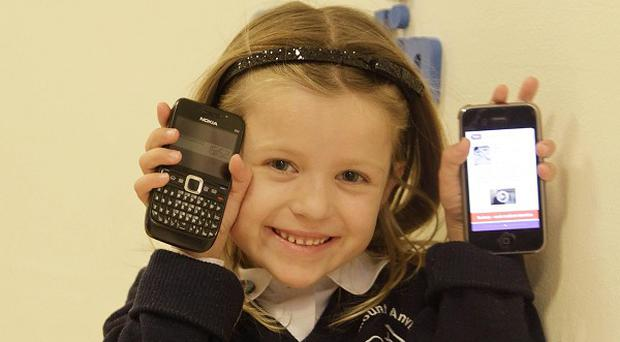 Ellie Moorhead at Crumlin Childrens Hospital. Meningitis Research Foundation launched a free application that lists the symptoms of the infection