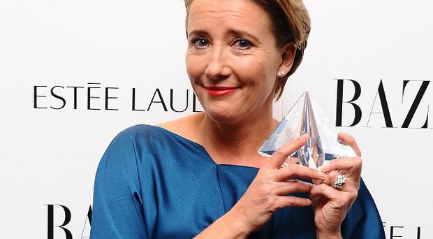 Emma Thompson wins the Role Model of the Year at the Harper's Bazaar Women of the Year awards