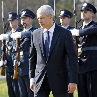 President Boris Tadic became the first Serbian leader to visit a site where more than 200 Croatians were killed during Croatia's war of independence