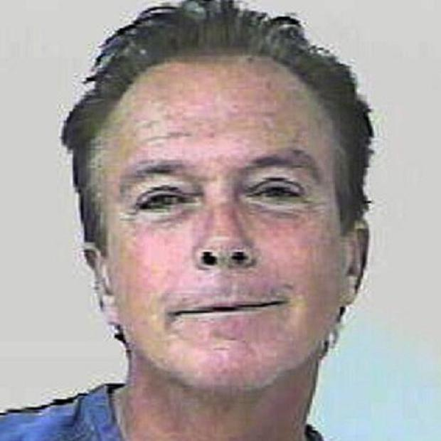 A Florida Highway Patrol picture of former pop singer David Cassidy, who has been accused of driving under the influence of alcohol (AP)