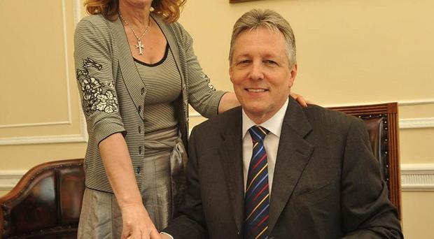 Former MP Iris Robinson is making a steady recovery in her battle against depression, her husband Peter has said