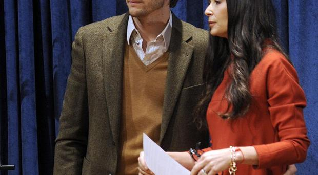 Demi Moore and Ashton Kutcher attended a UN conference