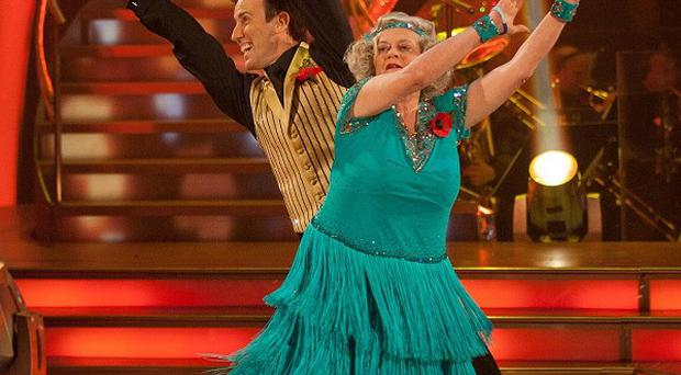 The Rt Hon Ann Widdecombe and Anton Du Beke dancing the charleston during Strictly Come Dancing (BBC)