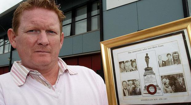 Stephen Gault is demanding a memorial to the victims of the Poppy Day bombing in Enniskillen must be reinstated