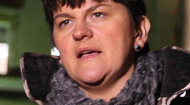 Arlene Foster has called on banks to help the economy by starting to lend to local businesses