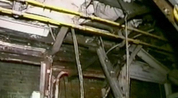 Video footage taken by emergency services of the scene at Edgware Road tube station, after the July 7 2005 bomb blast
