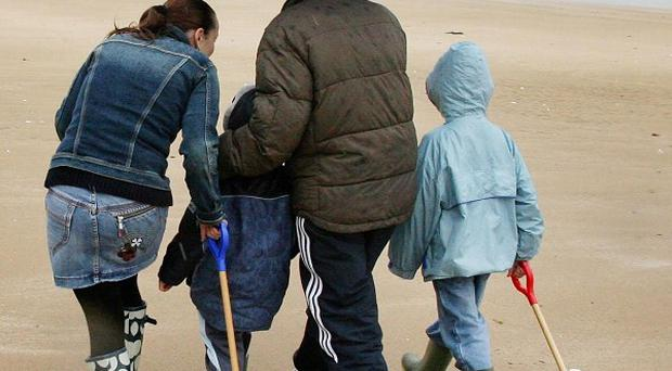 Northern families spend more time together and argue less than those in the south, a survey has suggested