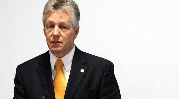 First Minister Peter Robinson says MLAs should lead the way and take a pay cut